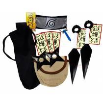 Kit Ninja Kunai Naruto Azul Shuriken Bandana Tsunade K-B