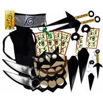 Kit Ninja Naruto Kunai Colar Verde Shuriken Bandana Minato K-E