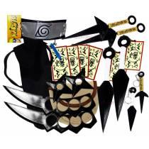 Kit Ninja Naruto Kunai Colar Azul Shuriken Bandana Minato K-F
