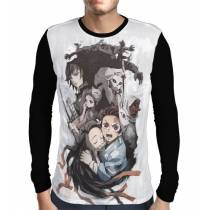 Camisa Manga Longa Demon Slayer: Kimetsu no Yaiba