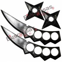 KIT Ninja Duplo Asuma Sarutobi - Kunais Shurikens