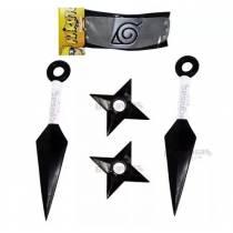 Kit Kunai Naruto Duplo - Bandana + 2 Kunais + 2 Shurikens