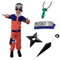 Kit Fantasia Naruto Infantil com Bandana Kunai e Colar C01