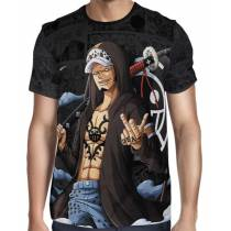 Camisa Dark Mangá Law Novo Mundo - One Piece - Full Print