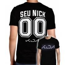 Camisa Full PRINT League Of Legends - K/DA Logo - Personalizada Modelo Nick Name e Número