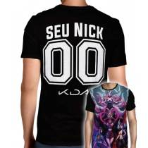 Camisa League Of Legends - K/DA Poster 03 - Personalizada Modelo Nick Name e Número -  Full PRINT