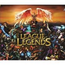 Mouse Pad - LOL Fundo Laranja - League of Legends