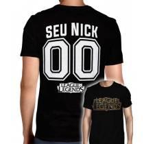 Camisa Full PRINT League Of Legends - Logo Modelo 1 - Personalizada Modelo Nick Name e Número