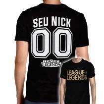 Camisa Full PRINT League Of Legends - Logo Modelo 2 - Personalizada Modelo Nick Name e Número