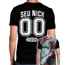 Camisa League Of Legends - Nami Modelo 1 - Personalizada Modelo Nick Name e Número