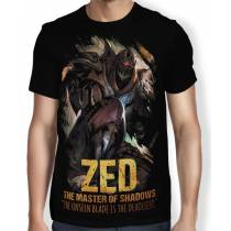 Camisa FULL Master of Shadows Zed - League of Legends