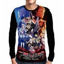 Camisa Manga Longa Battle Crew - Black Clover