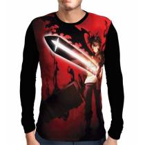 Camisa Manga Longa Dark Sword Asta - Black Clover