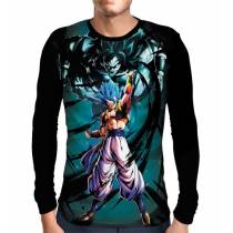 Camisa Manga Longa Blue Gogeta - Dragon Ball Super Broly