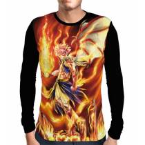 Camisa Manga Longa FT Dragon Natsu - Fairy Tail