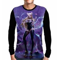 Camisa Manga Longa Ahri K/DA - League Of Legends