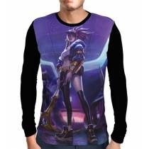 Camisa Manga Longa Akali K/DA - League Of Legends