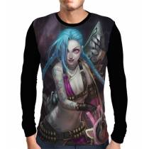 Camisa Manga Longa Jinx - League Of Legends