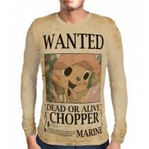 Camisa Manga Longa Print WANTED Chopper V2 - ONE PIECE