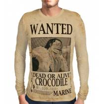 Camisa Manga Longa Print WANTED Crocodile - ONE PIECE