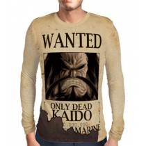Camisa Manga Longa Print Wanted Kaido - One Piece