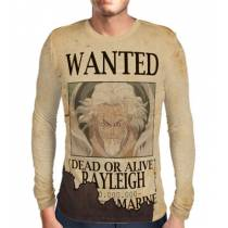 Camisa Manga Longa Print WANTED RAYLEIGH - ONE PIECE