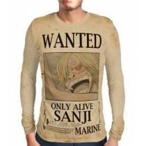 Camisa Manga Longa Print WANTED Sanji V2 - ONE PIECE