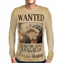 Camisa Manga Longa Print WANTED Trafalgar Law V2 - ONE PIECE