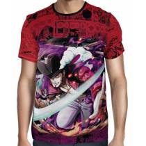 Camisa Red Mangá Dracule Mihawk Mod 02 - One Piece - Full Print