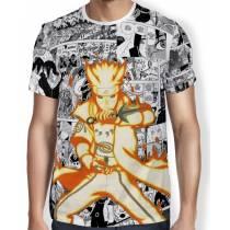 Camisa FULL Print Manga Minato - Naruto