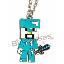 MN-12 - Colar Steve Creeper Minecraft