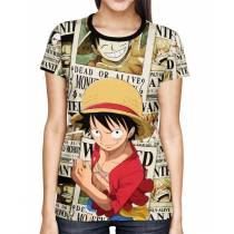 Camisa Full Print Wanted Luffy Exclusiva - One Piece