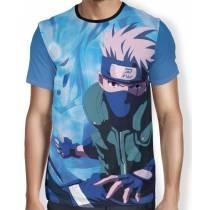 Camisa FULL Print Blue Kakashi - Naruto
