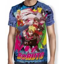 Camisa FULL Print Blue Manga Next  Boruto - Naruto