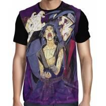 Camisa FULL Draw Itachi e Sasuke - Naruto