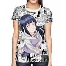 Camisa FULL Print Mangá Hinata Hyuga - Naruto