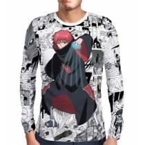 Camisa Manga Longa Print Mangá Sasori - Naruto