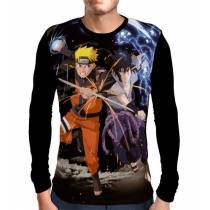 Camisa Manga Longa Naruto Vs Sasuke