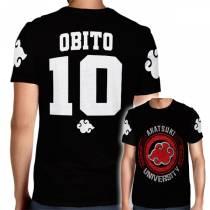 Camisa Full PRINT Akatsuki University - Obito - Naruto