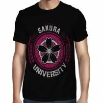 Camisa FULL Sakura University - Só Frente - Naruto