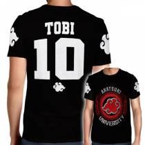 Camisa Full PRINT Akatsuki University - Tobi - Naruto