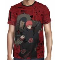 Camisa FULL Print Red Mangá Naruto - Sasori Modelo 2