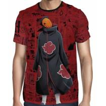 Camisa FULL Print Red Mangá Naruto - Tobi