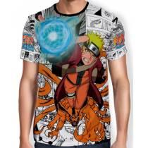 Camisa Full Print - Naruto manga