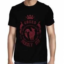 Camisa Full Greed - Ganância - Ban - Só Frente - Nanatsu no Taizai