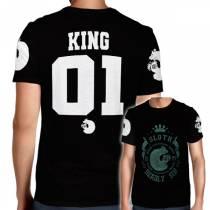 Camisa Full PRINT Sloth- Preguiça - King - Nanatsu No Taizai
