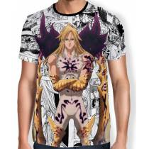 Camisa Full Print Mangá Meliodas Rei dos Demonios - Nanatsu no Taizai