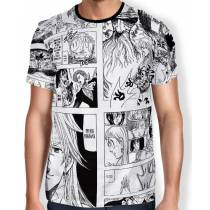 Camisa Full Print Mangá Especial Capitulo 300 - Nanatsu No Taizai
