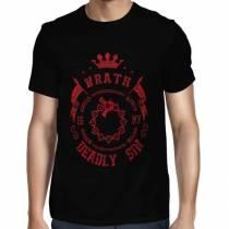 Camisa Full Wrath- Ira - Meliodas - Só Frente - Nanatsu no Taizai