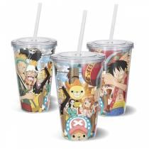 Copo Acrilico One Piece - Tripulação Chapeu de Palha
